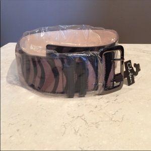 NWT Cole Haan animal print belt -small